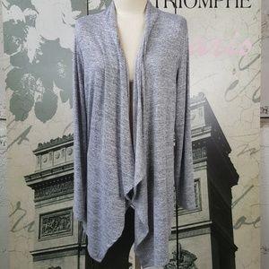 Apt 9 Draped Front Gray Cardigan Size XL